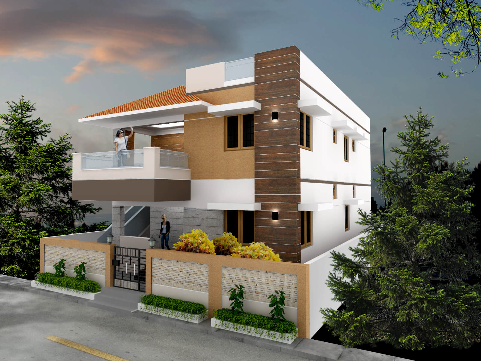 proposed residence for adv sundarrajan architects in coimbatore
